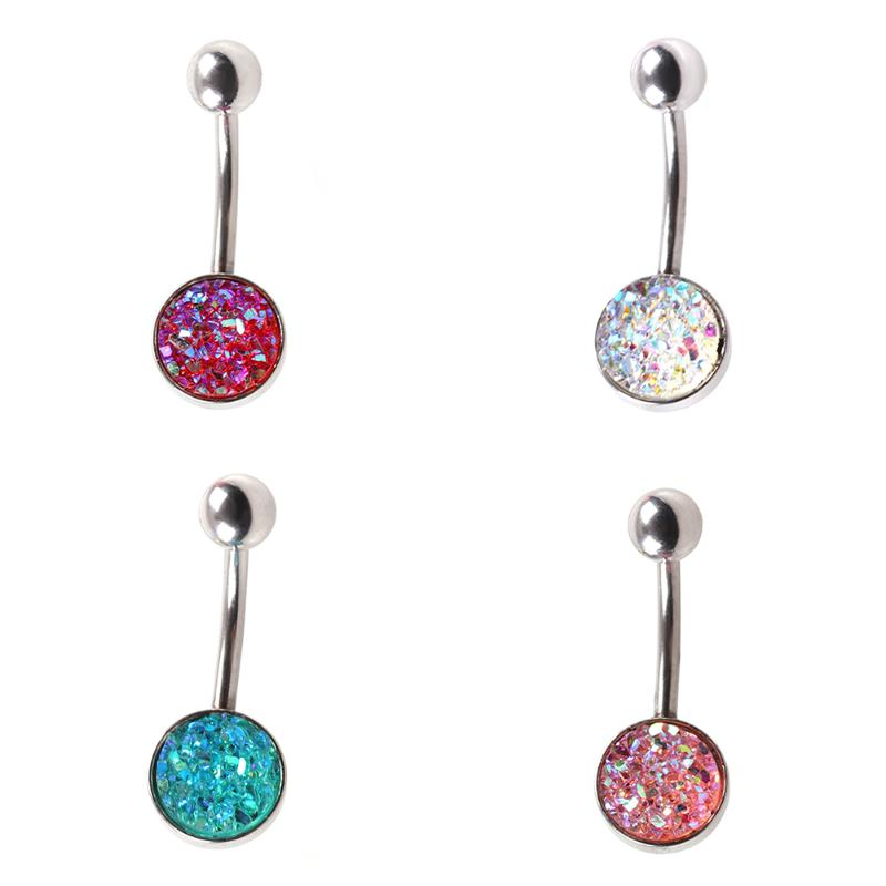 Fashion Hot Sexy Factory Price Belly Ring Button Body Jewelry Simple Zircon Earrings Ear Nail Belly Button Rings Navel Piercing With The Most Up-To-Date Equipment And Techniques Home
