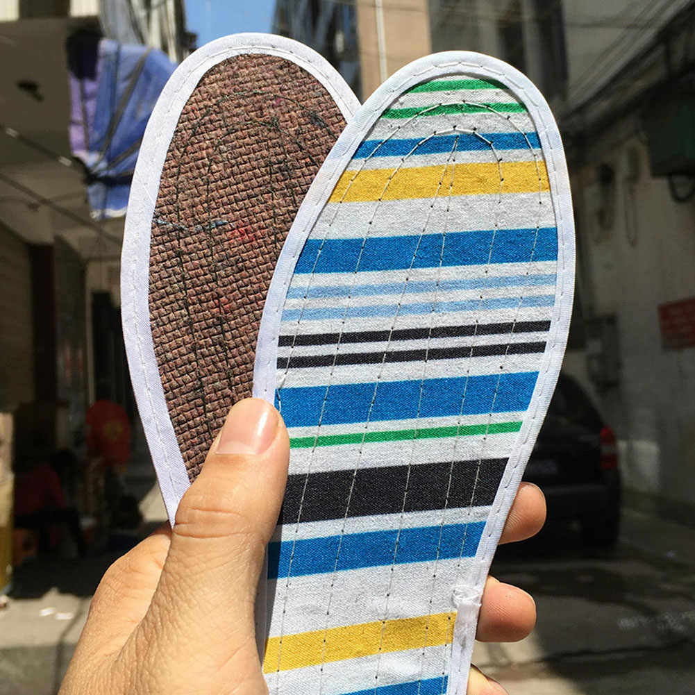 1 pair Unisex Pure Cotton Shoes Cushion Pad Insoles for Shoes Comfort Healthy Inserts Insoles Sport Absorb Sweat Shoe Pad Flower