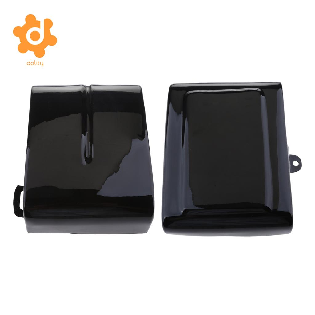 Battery Covers for Harley Dyna Low Rider Fat Street Bob Super Wide Glide 2012 2013 2014 2015 2016 motorcycle vinyl black tank pad bra guard shield sheet for harley dyna super wide glide low rider street fat bob fxdse fxd
