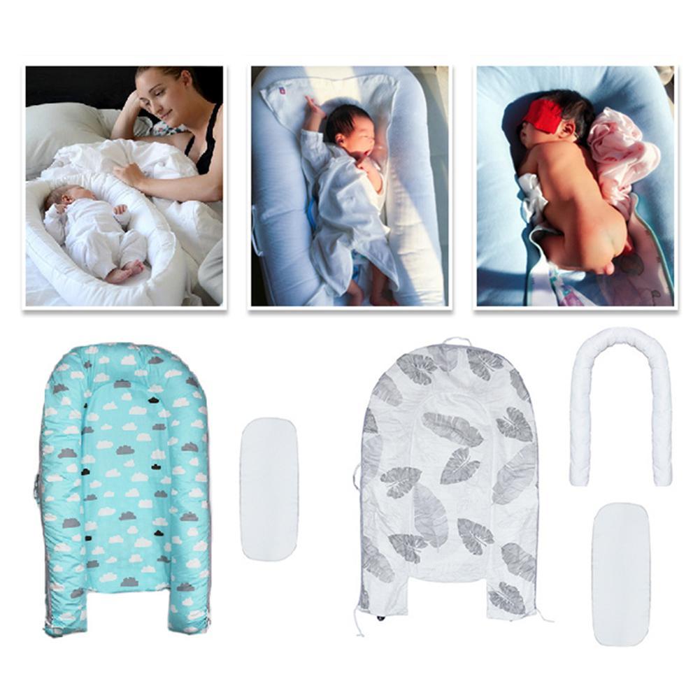 Kidlove Double face bébé nid détachable simulant lit de sommeil nouveau-né Babynest voyage coussin lit