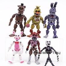 Foxy FNAF Cinco Noites na Bonnie é Freddy Freddy Freddy Fazbear Urso PVC Figuras de Ação Brinquedos 6 pçs/set