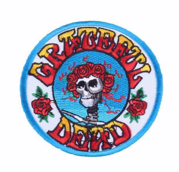 Grateful dead iron on Patches band music badge DIY Cloth Accessories embroidered Wholesale