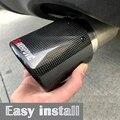 Gratis Verzending 1PCS Akrapovic Krullend Auto Universal Carbon Fiber Uitlaten Tip Uitlaat Pijp Voor BMW BENZ AUDI VW Auto accessoires