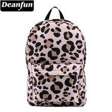 Deanfun mochila para meninas leopardo padrão resistente à água clássico mochilas saco de escola adolescente viagem presente 80048