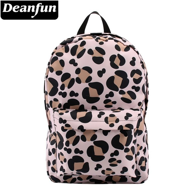 Deanfun กระเป๋าเป้สะพายหลังสำหรับสาวเสือดาวรูปแบบกันน้ำคลาสสิกวัยรุ่นกระเป๋าเดินทางของขวัญ 80048