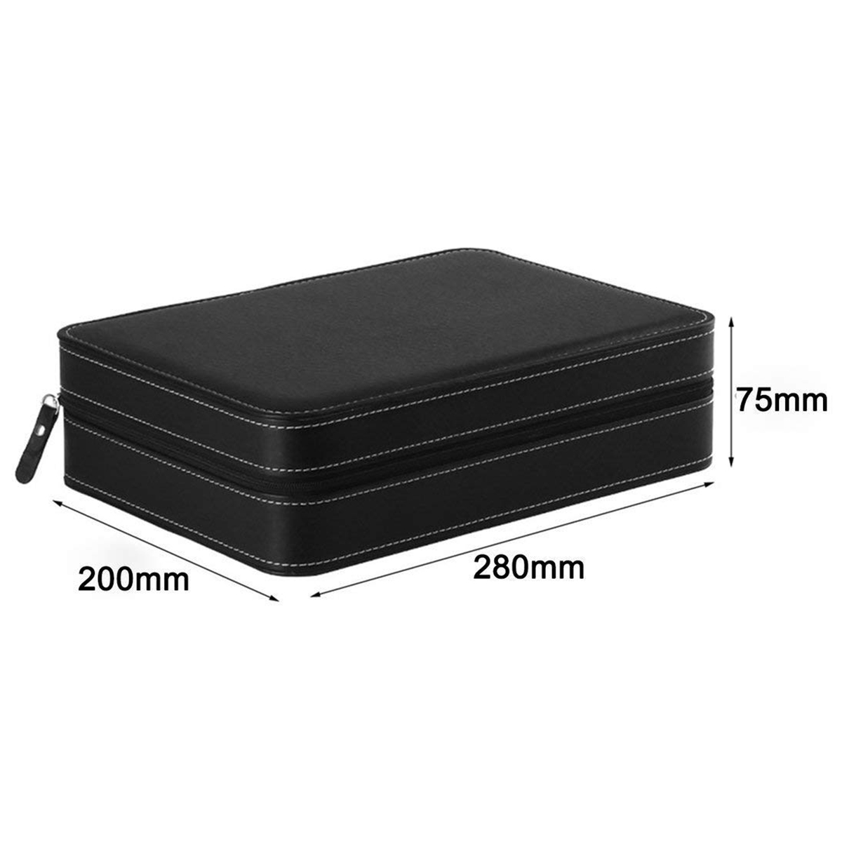 Image 5 - Portable Watch Box Organizer PU Leather Casket with Zipper Classic Style 10 Grids Multi Functional Bracelet Display Case-in Watch Boxes from Watches
