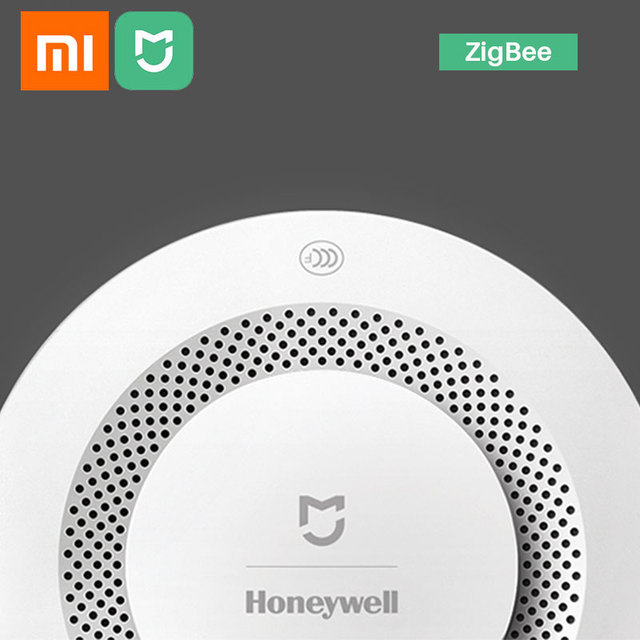 Xiaomi Mijia Honeywell Fire Alarm Smoke Detector Sensor Audible Visual Alarm Notication Work With Mi Home APP By Phone Computer, Office & Security