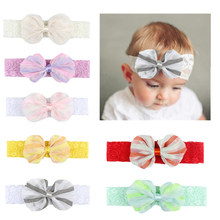 baby girl headband Infant hair accessories clothes band bows newborn Headwear hairband Gift Toddlers стоимость