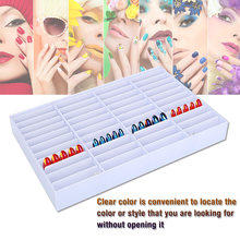 Empty Nail Polish Holder Tips Storage Box Nail Organizer Nail Art Decoration Container Nail Gel Display Case Box Manicure Tools(China)