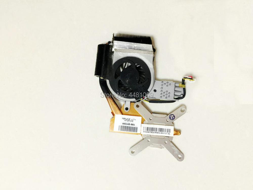 USED working good cooler for HP Touchsmart TX1000 TX2000 cooling fan with heatsink 441137 001 441143