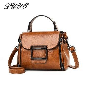 9de89864f9b6 2019 Весна Натуральная кожа сумки женские маленькие винтажные сумки через  плечо для женщин сумка женская