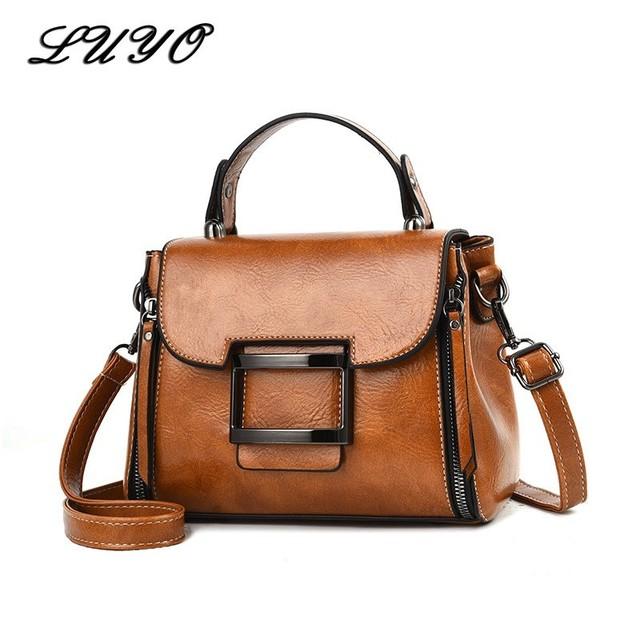 Real Genuine Leather Handbag Handbags Woman Small Vintage Crossbody Bags For Women Shoulder Messenger Bag Female