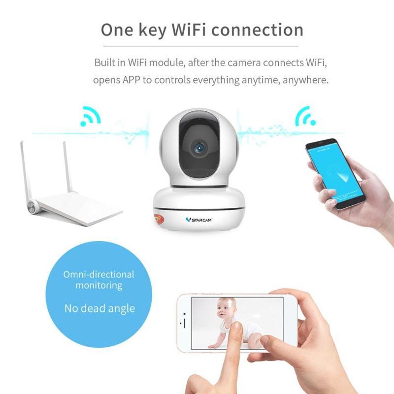 Vstarcam Wireless WIFI IP Camera IR-CUT Night Vision Pan Tilt Surveillance  Network P2P Webcam Camcorder Video Recorder for Home