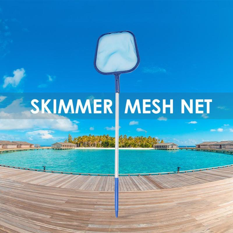 Leaf Skimmer Mesh Net Professional Cleaner Pool Pond Tub Cleaning Toolsl With Adjustable 1.5m Telescopic Rod