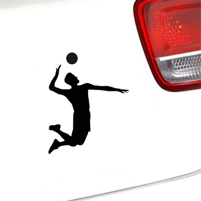 Pemain Bola Voli Olahraga Mobil Stiker Untuk Dinding Rumah Kaca