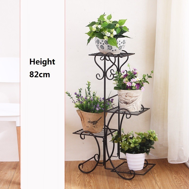 Image 3 - Scaffali In Metallo A Ripiani Support Plante Varanda Decoration Exterieur Shelf Plant Stand Balcon Balkon Flower Iron Rack-in Plant Shelves from Furniture