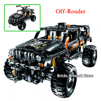 1132pcs Fit Legioness Technic 8297 Ultimate Off Roader SUV Car Electric Motor Set Building Blocks Toys for Kids Christmas Gifts