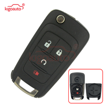 Kigoauto OHT01060512 flip key shell 3 button with panic for Chevrolet Equinox Sonic Trax 2010 2011 2012 2013 2014 2015 2016 2017 for chevrolet camaro bumblebee spoiler primer unpainted abs material 2010 2011 2012 2013 2014 2015