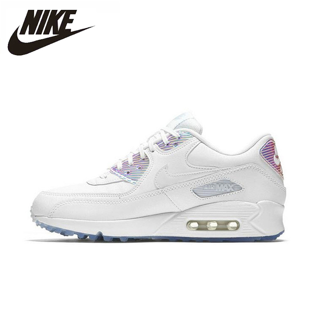 a535fe6d8a NIKE AIR MAX 90 PREMIUM Authentic New Arrival Women Running Shoes  Breathable Trainers Sports Sneakers #443817-104