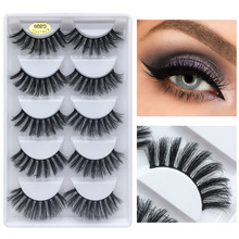 HUAPAN 5 pairs 3D Faux mink eyelash lashes maquiagem cilios for professionals soft eyelashes extension