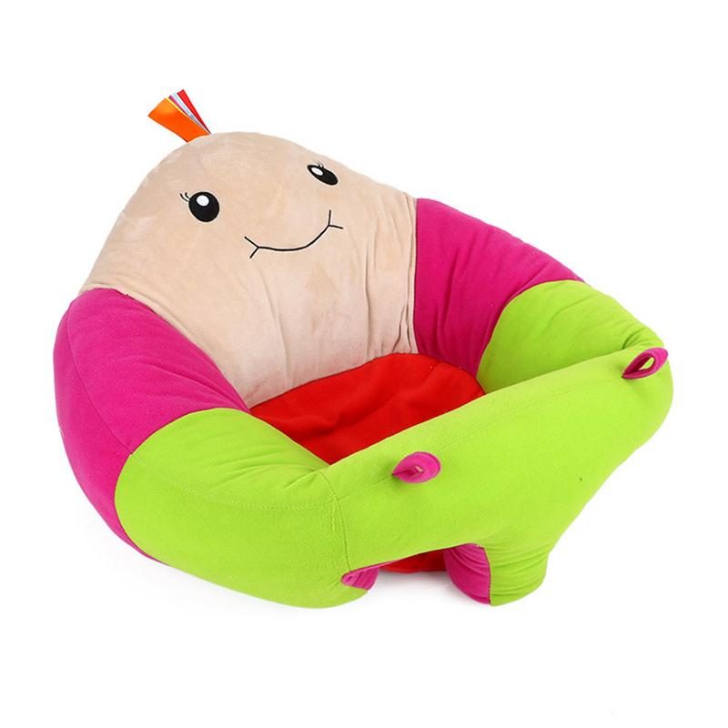 Cartoon Shape Baby's Learning Crystal Super Soft Seat Safa Plush Toy Children's Innovative Comfortable Safe Dining Chair