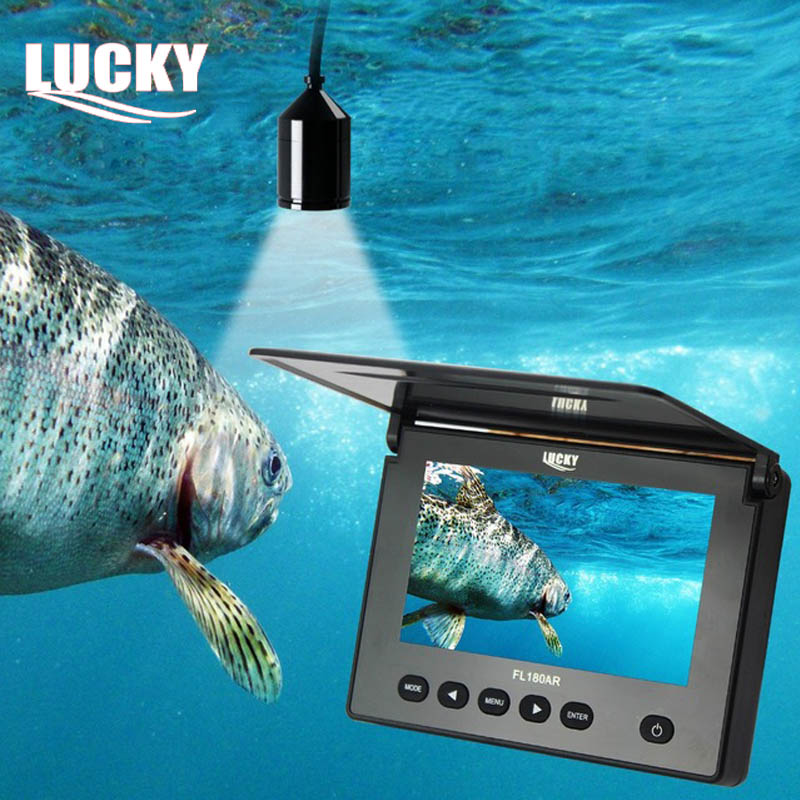 Lucky Newest Portable Underwater Camera Video Recording DVR 4.3 LCD Ice Fishing Cameras 20M Cable Fish Finder for Boat