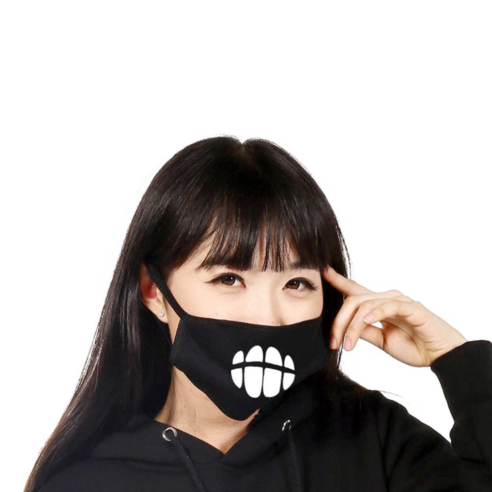 5 Pcs Keren Unisex Kapas Anti Debu Wajah Mulut Masker Dicuci Anti-Kabut Topeng Filter Earloop untuk Pria Wanita