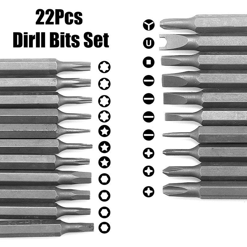 DOERSUPP Mini Electric Cordless Magnetic Screw Driver Tool Rechargeable Li-ion Battery Precisions Hand Screwdriver Bit Set