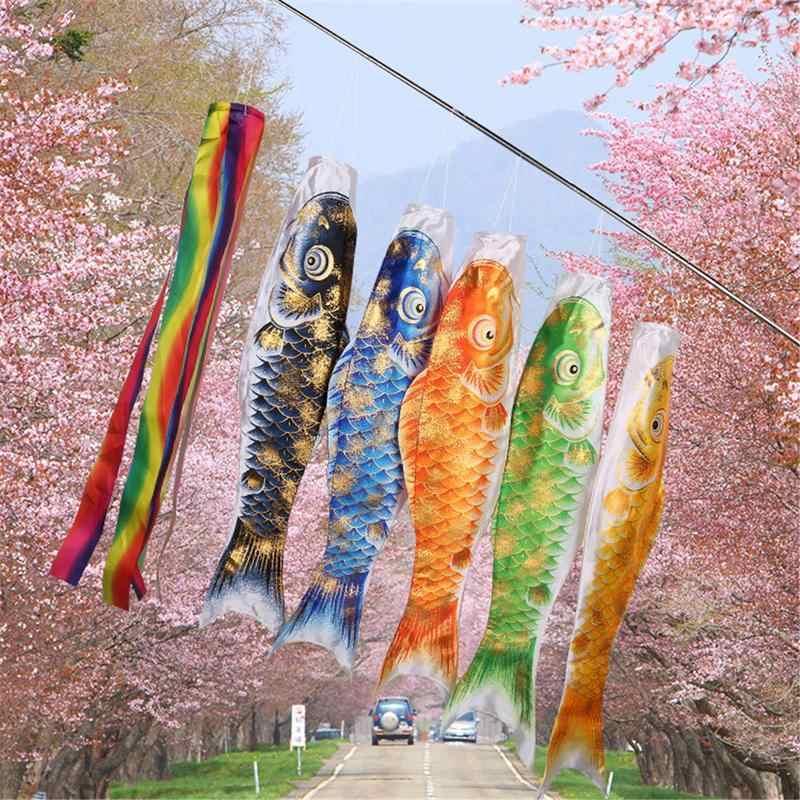 3D Hot Stamping Carp Banner 70/100 CM Koi Nobori Carp Wind Socks Koinobori Colorful Fish Flag Hanging Wall Home Decor
