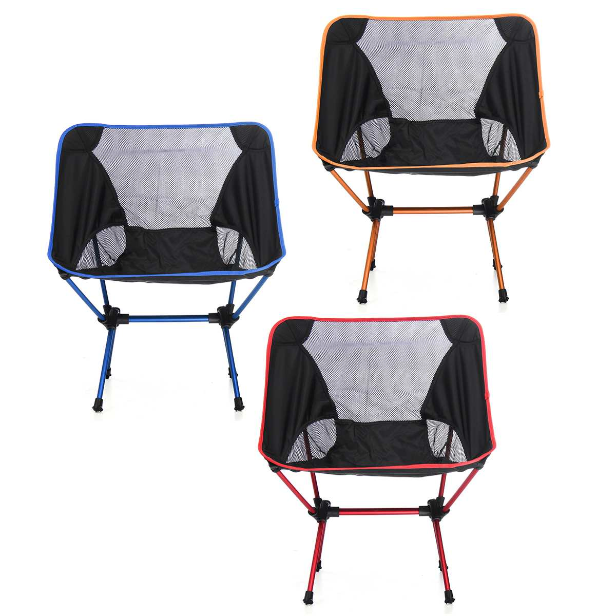 Folding Chair Backpack Portable Folding Camping Stool Foldable Fishing Chair Seat With Backpack For Fishing Picnic Bbq Cycling Hiking