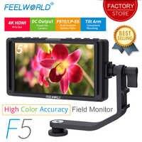 FEELWORLD F5 5 pulgadas DSLR cámara pequeña HD enfoque Video Assist campo Monitor LCD Full HD IPS 1920x1080 4 salida de entrada K HDMI