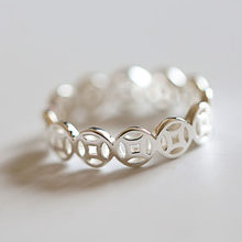 925 Sterling Silver Old COINS Open Rings For Women Hypoallergenic Fashion Girl Sterling-silver-jewelry(China)