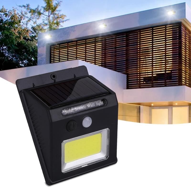 24 LED COB Solar Human Sensor Garden Lamp Villa Street Lamp White Light Waterproof IP65 Outdoor Wall Lamp 24 LED COB Solar Human Sensor Garden Lamp Villa Street Lamp White Light Waterproof IP65 Outdoor Wall Lamp