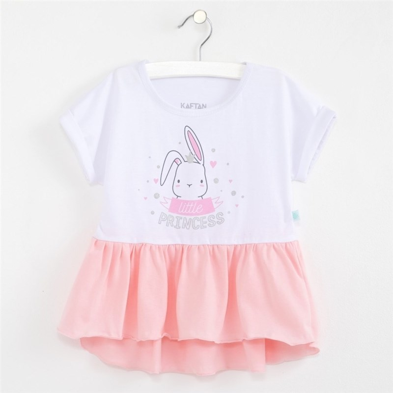 T Shirt Bunny White rhinestone happy easter white top shirt hot pink bunny rabbit satin trim baby girl skirt set 1 8y mapsa0494