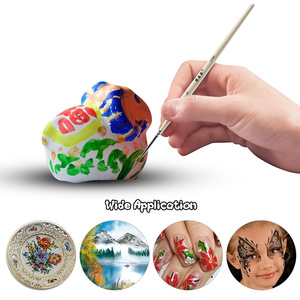 Image 3 - Pincéis diminutos ajustados da escova da pintura do cabelo de náilon do detalhe para a pintura fina acrílica/aquarela/óleo da arte