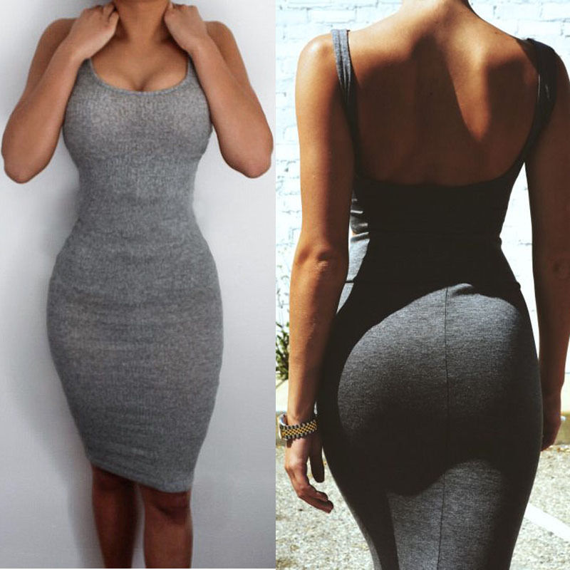 Sexy Women Summer Bandage Slim Bodycon Party Cocktail Split Mini Dress