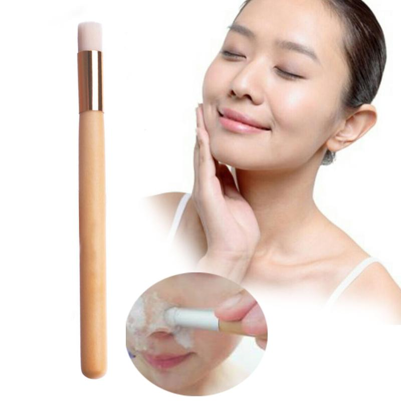 <font><b>Professional</b></font> Makeup Nose Cleansing Brush Long Raw Wood Handle Cosmetic Women Cleanser Face <font><b>Skin</b></font> <font><b>Care</b></font> Cleaning <font><b>Tool</b></font> image