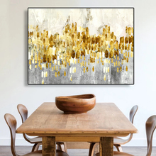 Wholesale High Quality Abstract Oil Painting On Canvas Handmade Beautiful gold Color Landscape Paintings