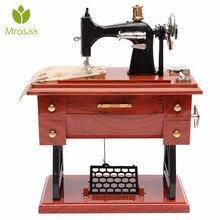 Винтажная музыкальная шкатулка мини швейная машина стиль музыкальные движения механические День Святого Валентина подарок на день рождения декор стола музыкальные коробки