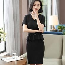 a412be40387 Marina Kaneva women two-piece elegant mini bodycon plus size pencil dress  ruffles short sleeve
