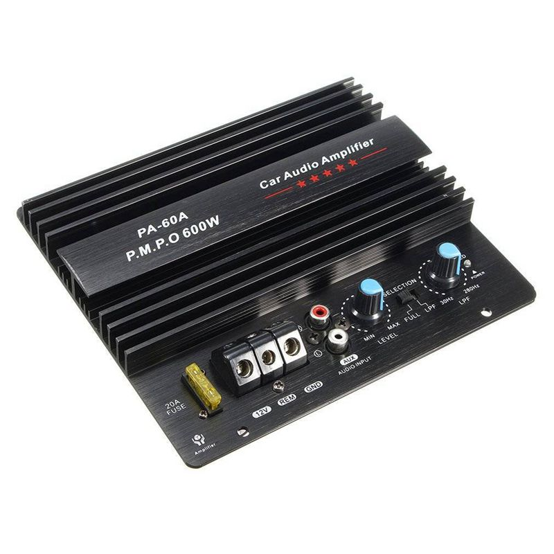 12V 600W Verstärker Bord Mono Auto Audio Power Verstärker Leistungsstarke Bass Subwoofer Amp Pa-60A