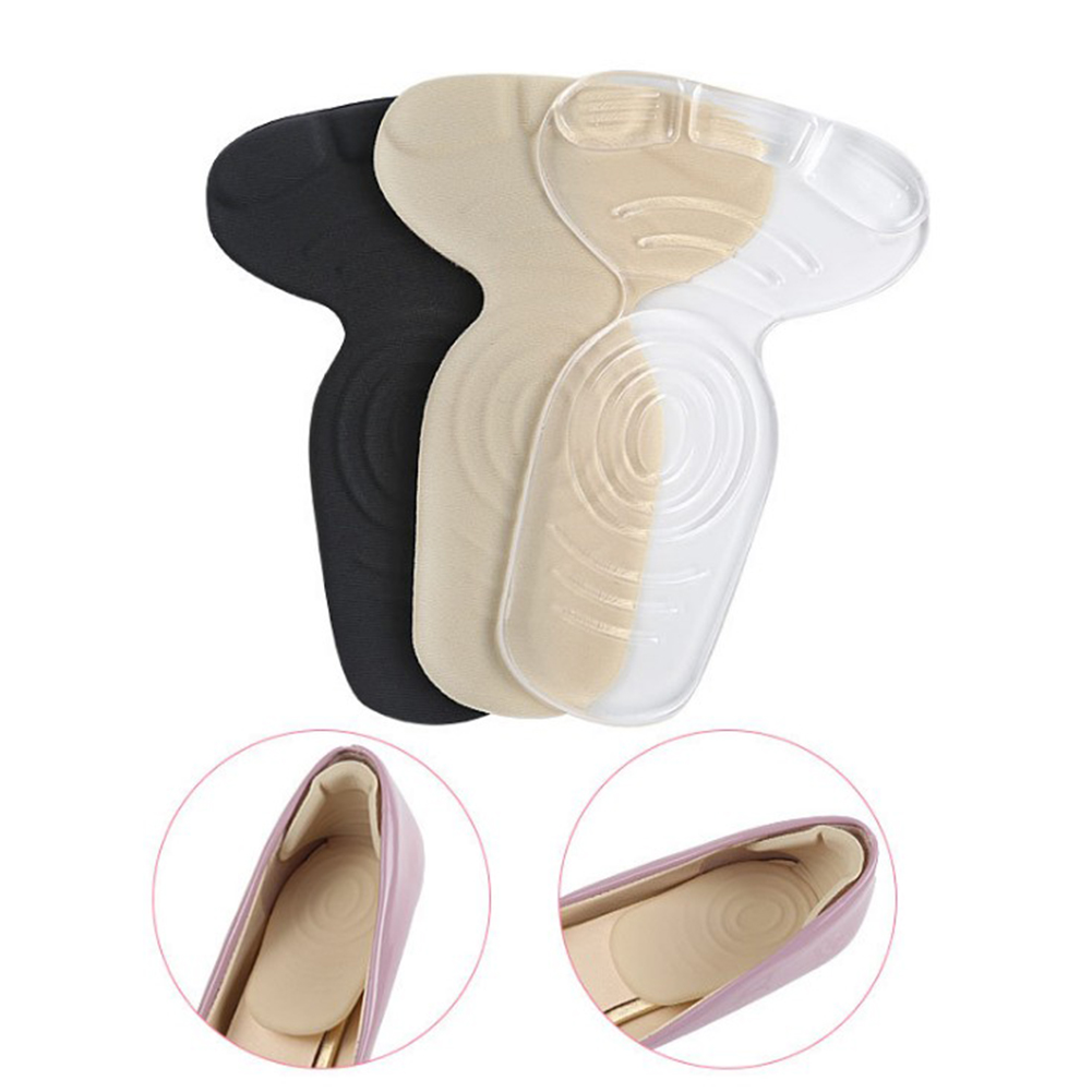 T-Shape Gel Insoles For High Heel Shoes Anti-Slip Soft Sponge Half Pads Foot Heel Protector Inserts Clear Black Nude Cushions