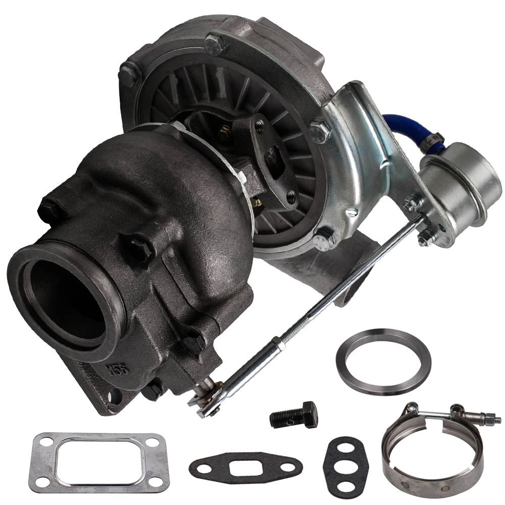 T3 T4 Universal Turbo Turbocharger 0.63A/R V Band Flange Oil Cold 420HP 2.0-3.5L for Stage III WastegateT3 T4 Universal Turbo Turbocharger 0.63A/R V Band Flange Oil Cold 420HP 2.0-3.5L for Stage III Wastegate