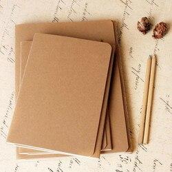 Couro caderno de papel em branco Kraft capa do livro bloco de notas do vintage caderno diário memos macio cadernos revista frete grátis 01623