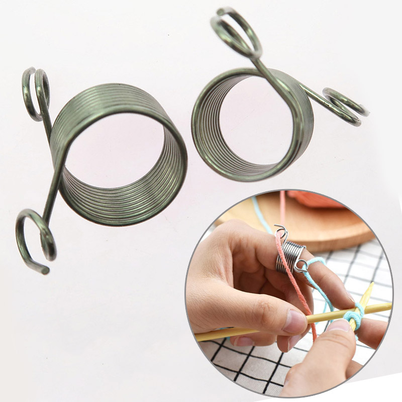 Jacquard Needle DIY Knitting Tool Knuckle Assistant 1PC Guides Braided Thimble Popular Stainless Steel Sewing Accessories