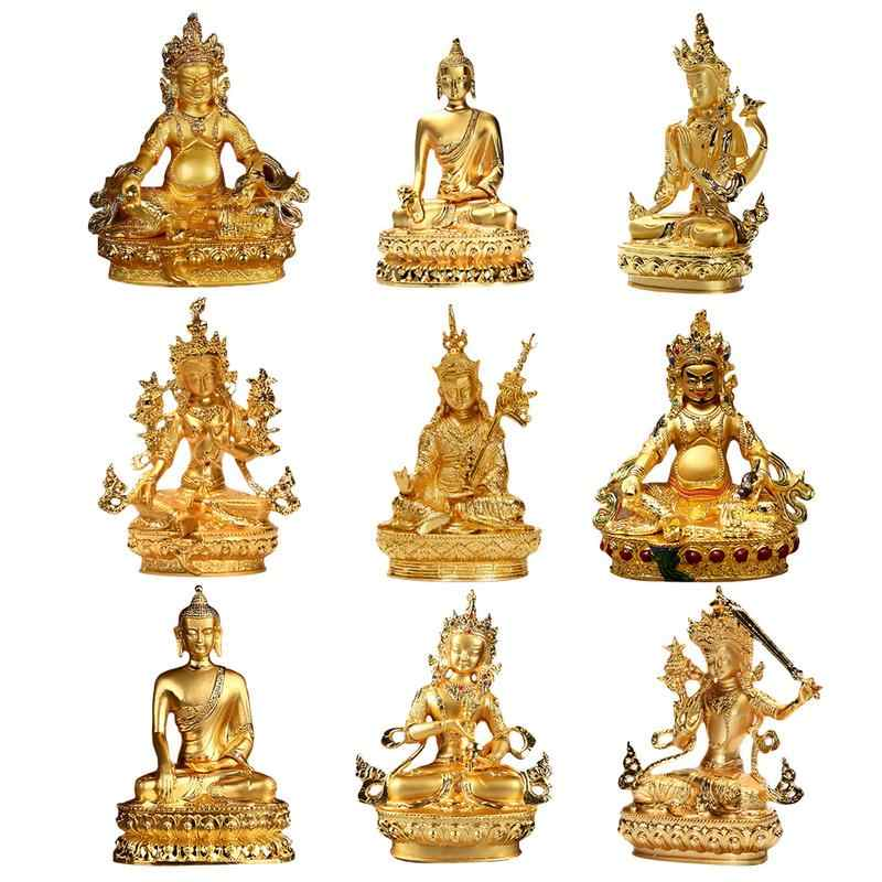 2019 New Exquisite Small Buddha Statue Gold Plated Statue Wisdom Bodhisattva 15 cm high
