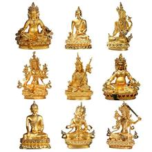 f33372a86 2019 New Exquisite Small Buddha Statue Gold Plated Statue Wisdom  Bodhisattva 15 cm high(China