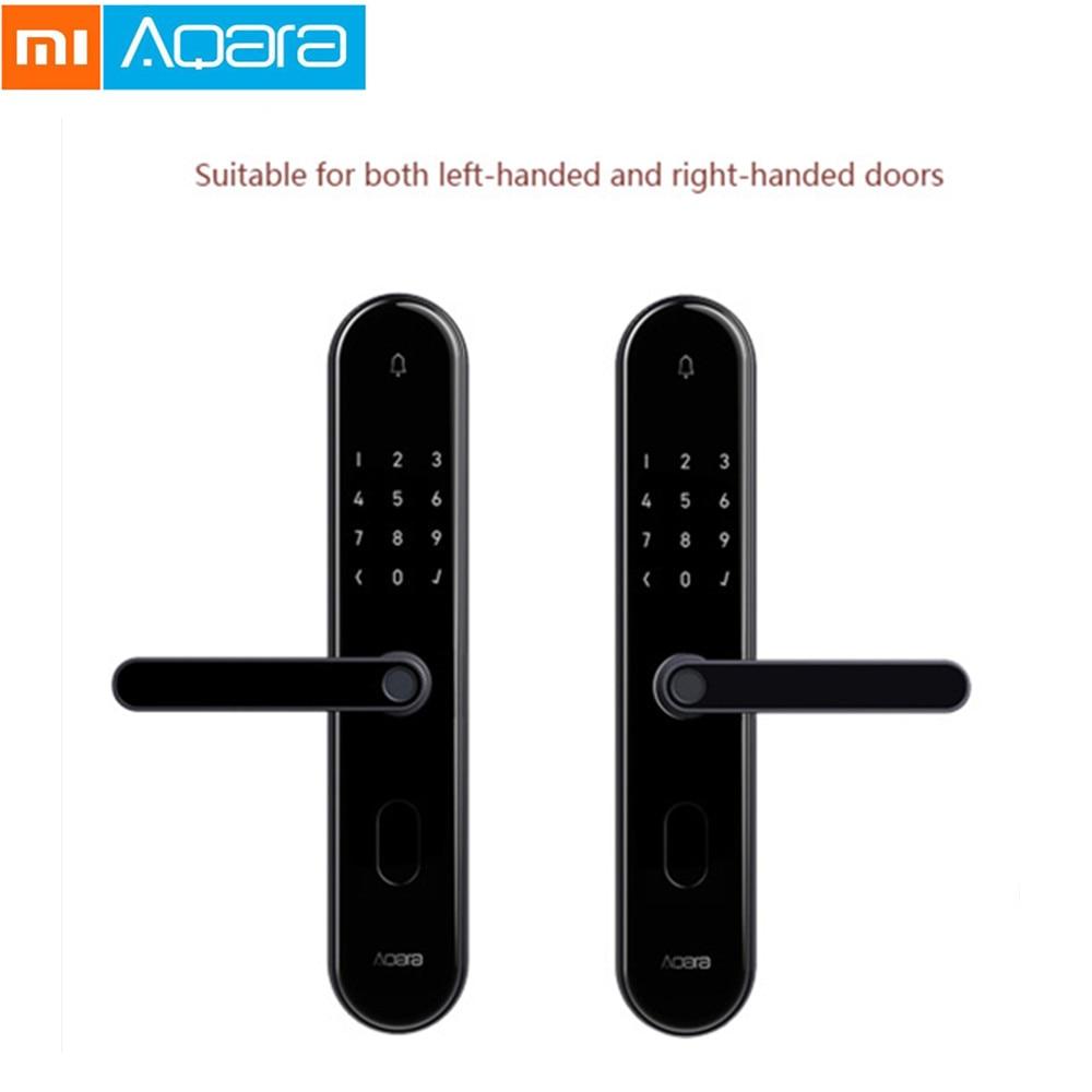 Xiaomi Mijia Aqara S2 Smart Fingerprint Door Lock Digital Touch Screen Keyless Password Lock Smart Home Mi Home App Control