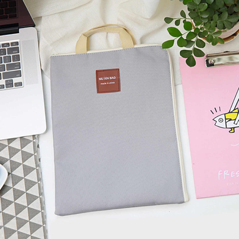 A4 размер водонепроницаемый нейлон сумки для документов Органайзер с ручками для офиса школы бизнес 13 дюймовый лэптоп планшет сотовые телефоны