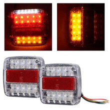 2x New 26LEDs Stop Rear Tail Reverse Light Indicator License Plate Lamp Truck Trailer 12V LED Indicator Lights(China)